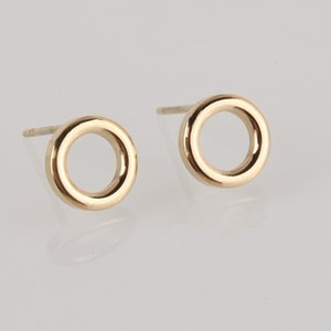 Ladies Small Round Safety Pin Earrings women Stainless Steel Earrings Trending Ear Ring Studs Jewelry YE14989