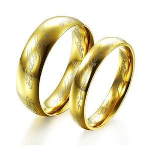 Пара Золотые кольца из нержавеющей стали ювелирные изделия способа подарка венчания высокого качества Магическая Пара кольцо Уникальные ювелирные изделия нержавеющей стали