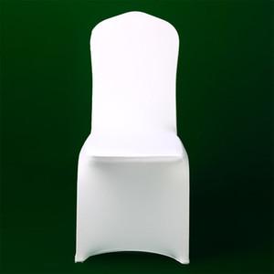 100PCS Branco Lycra Presidente festa de Natal tampa da cadeira baratos Spandex Covers celebração do casamento Cerimônia Elastic Seat Cover 2018