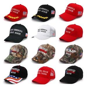 Dropshipping Donald Trump 2020 Cap Camouflage USA Flag Baseball Caps Make America Great Again Snapback President Hat Embroidery
