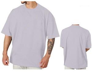 maglietta casuale maglietta Uomini Blank manica corta si slaccia più la Mens girocollo personalizzazione Estate solido di colore