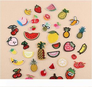 Embroidery Iron on Patch Lemon Cherry Peach Watermelon Fruit Embroidery Patches for Clothing Iron on Kids Clothes Appliques Badge Sticker