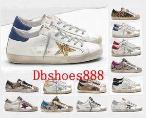 De alta calidad de Italia viejo estilo zapatillas de deporte del cuero genuino de las vellosidades Dermis Calzado casual para hombre / las mujeres US5-11 superestrella de lujo de zapatos Tamaño