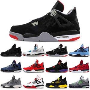 Jumpman 4 4s hommes de chat noir baskeball chaussures ce que le feu rouge jack cactus élevé baskets sport chaud punch formateurs mens