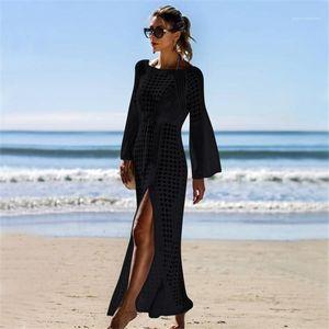 Guards Frauen Lange Vertuschungen aushöhlen Split Up Bikini-Vertuschungen Strand Boho lange Kleider Rausch