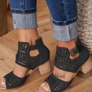 Robe chaussures bloquées talons femmes grandes taille 41 42 43 Sandales strass pour élégante bottes de sandale d'été