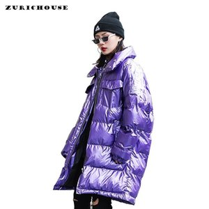 ZURICHOUSE 2019 Winter Jacket Women Plus Size Loose Down Padded Parka Female Fashion Stand Collar Thick Warm Puffer Coats