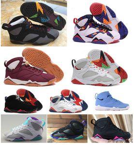 Nike Air Max Retro Jordan ShoesYeni 7 7s Basketbol Ayakkabı Patta Raptors Olimpiyat GMP Fransız Blue Ray Allen Tinker Alternatif Hare Jumpman Retro Eğitici 7'ler erkek Sneakers