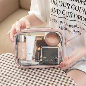 PU Transparent Zipper Makeup Washing Storage Bag Lipstick Towel Organizer Digital Electronic Item Collect Pouch Travel Accessori