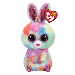 """Ty Beanie Boos 6 """"15cm Lapin En Peluche Régulière Big-Eyed Peluche Collection Collection Jouets De Poupée Pour Enfants Juguetes Brinquedos"""