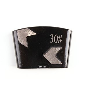 KD-H10 HTC Diamond шлифовальной Обувь Top Sharp Алмазного шлифовальный диск с двумя стрелками Сегментами для бетонного пола Rénovation 12PCS