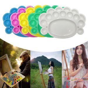15 Wells Plastic Manicure Palette Nail Art Polish Mix Pallet Plate 20 * 15 cm Nail Art Bowl herramientas