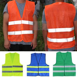 Reflexivo raya tráfico chalecos de seguridad de alta visibilidad chaleco para Empleado de Sanidad DHL WX9-1810 Ropa de Trabajo Policía Auxiliar
