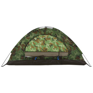 Pesca caminhadas camping barraca única camada portátil 1/2 pessoa ao ar livre barraca de acampamento verão barraca de praia camuflagem