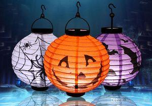 Halloween lanterne citrouille, lanterne de papier lumineux, lanterne à la main, lieu Halloween, accessoires, éclairage Halloween, 4 couleurs 66