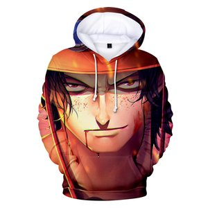 ONE PIECE Cartoon 3D Hoodies Men Women Hooded Casual Loose Luffy Printed Sweatshirts Fashion Tops Wholesale 2019