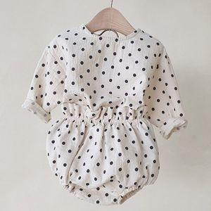 MILANCEL baby clothing горошек baby boys одежда из чистого хлопка и льна для новорожденных девочек костюм для новорожденных наряд