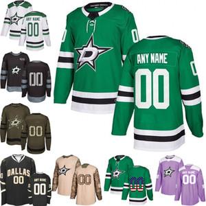 Benutzerdefinierte Mens-Frauen-Jugend Dallas Stars 9 Taylor Hall 14 Jamie Benn 91 Tyler Seguin Hockey Trikots genäht S-3XL