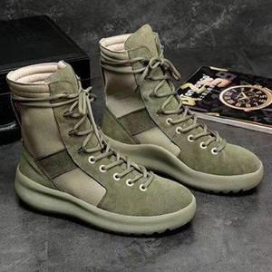 Tanrı Üst Askeri Sneakers Hight Ordu Boots İnsanların Designer- ve Kadın Moda Ayakkabı Martin Boots 38-45 y0