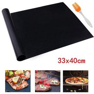 Sigara Çubuk Barbekü Grill Mat 40 * 33cm Isıya Dayanıklı Pişirme Mat Yeniden kullanılabilir Barbekü Izgara Sac Fırın Minderleri OOA8082
