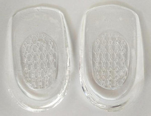 Wholesale free delivery hobbaggo 1 pair of heel insole massage pad silicone insert pad massager NEWdhl