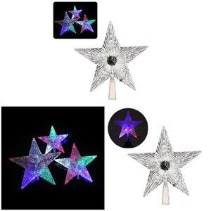 Hot Christmas Tree Top Star Shiny Xmas Decor Transparent LED Luminous Treetop Stars Christmas Party Festival Ornament FQ-ing