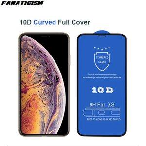 10D de seguridad curvado de vidrio templado de protección para iPhone 6 6s 7 8 Plus x xr xs xsmax 11 pro protector de pantalla de cristal max