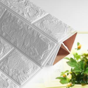 3D 자체는 * 30 * 0.8cm TV 배경 벽돌 벽 스티커 거실 침실 장식 스티커 벽지 (60) 방수 접착제