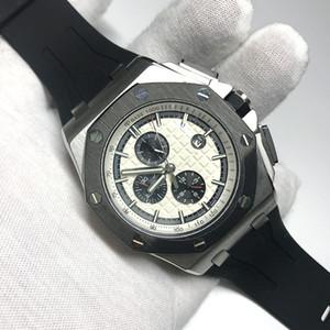 5 colori mens automatico orologio spazzare vetro zaffiro Royal Oak cinturino in gomma tutti i sub quadranti opere