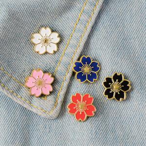 Kirschblüten-Blumen-Brosche Pins Button Pins Jeansjacke-Abzeichen japanische Art Broschen Schmuck-Geschenk für Mädchen