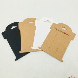 Carte della forcella della carta di 50pcs 11 * 8cm fatte a mano con le carte d'imballaggio dei gioielli di amore
