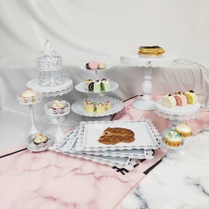 13 Pcs Wedding Dessert Metal Crystal 3 Tier Cupcake Tire Party Round Small Birdcage Cake Stand