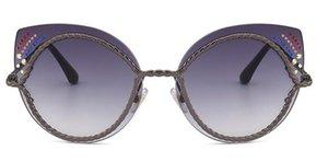 New cat eye diamond rope model poster sunglasses sunglasses European and American fashionista