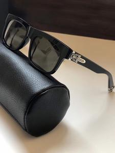 Gümüş Siyah SLUSS bussin Güneş kutusuyla Kalın Gümüş tonları 56mm Güneş Gözlükleri Erkek Güneş gözlüğü Yeni