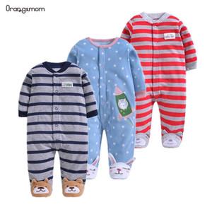 Orangemom meninos oficiais bebê recém-nascidos 2019 macacãozinho primavera bebê meninas romper fleece infantil Macacão para crianças roupa nova nascido