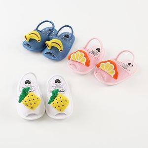 Bambini di Prewalker del neonato sandali ragazza con frutta Anguria del fumetto Banana Ananas del bambino delle ragazze delicatamente Soled scarpe primo camminatore Estate