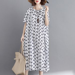 2020 New Arrive Summer Maternity Dress Woman Leaf Print Large Size Dresses Pregnant Woman Dress MD-02344