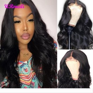 Brazilian Body Wave Human Hair Lace Frontal Wigs For Black Women Virgin Hair Weave Body Wave Closure Wigs 150% Density Glueless Lace Wig