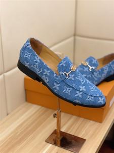 Los diseñadores del vestido de los hombres de lujo 19SS zapatos de moda de cuero genuino Casual zapatos de punta redonda zapatos Tendencia Hombre para zapatos del juego boda