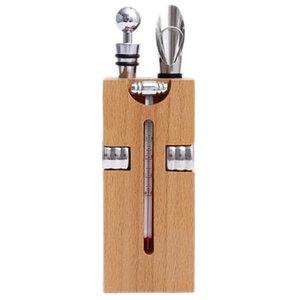 Kalite Bar Aracı Seti Şarap Şişe Açacağı ile Ahşap Kutu Tirbuşon Pourer Açıcı Aksesuar Ev Ziyaret Hediye Diğer Mutfak Dining Şişe Standı