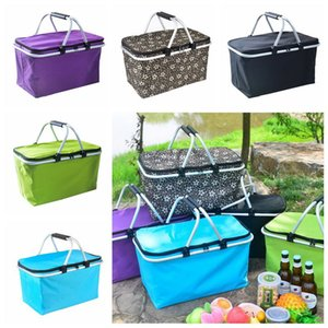 Outdoor Picnic Meal Bag Folding Oxford Cloth Ice Family Pack Outdoor Picnic Food Storage Bag Takeaway contentores 6pcs 5 cores CCA11779-A