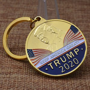 Yeni tasarım Donald Trump Anahtarlık Hatıra para metal Hatıra rozeti Anahtarlık askeri meydan para toptan