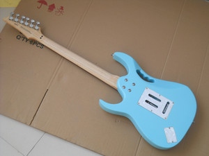 E-Gitarre Mint Blaue Farbe Tremolo Hohlraum Baum des Lebens Inlay Chrome Hardwares Kostenloser Versand