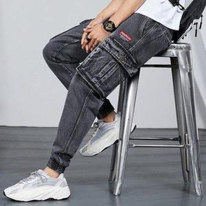Fairy2019 Kreuz Frühling und Herbst Neues Muster European Black Beam-Mann Chivalrous elastische Kraft Bound Feet Close Holes Jeans