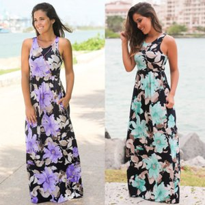 2018 New Moda Womens Verão Boho Casual Longo mangas Evening Partido Maxi Beach Dress Vestido de Verão