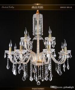 투명 유리 눈물 실버 현대 크리스탈 유리 럭셔리 샹들리에 빛은 대형 호텔 홈 장식 현대 크리스탈 샹들리에를 삭제