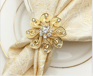 Spot Western Restaurant Hotel Diamond Ring Circle Pearl Napkin Buckle Napkin Circle Flower Ring Towel Buckle