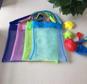 Mesh Bag bambini Beach Shell Bag storage netto cinghie registrabili Tote giocattolo Mesh Outdoor borsa pieghevole del bambino del bambino della spiaggia Deposito Borse LSK121