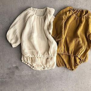 2018 Autumn miúdos criança Meninas Meninos Clothings Define Japankorean crianças roupas LY191227