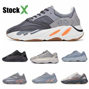 Discount Kanye West Wave Runner 700 Boots Grey Athletic Shoe For Men 700S Womens Mens Sports Sneakers Trainers Outdoor Designer Causal#QA382